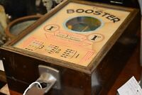 Booster Trade Stimulator Amusement Machine Working Old Penny Play,Keys, c 1933