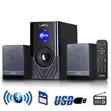 beFree Sound BFS-15 2.1 Channel Surround Sound Bluetooth Speaker System -Black
