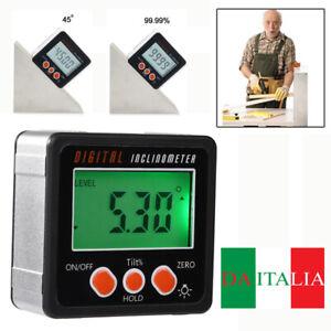 Digitale Goniometro Calibro Livello Angolare Finder Inclinometro Magnete Base