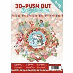 3D Push Out Book - Card Deco #19  - Lovely Christmas
