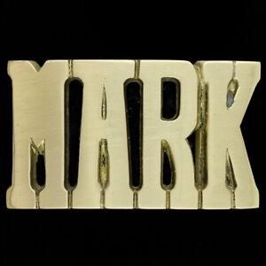Mark Name Retro Hippie Western Massives Messing 78 1970s Nummern Neue Gürtel