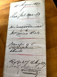 1897 Antique Scarborough Public Market Share Transfer Document Signed Ink Seals