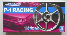 "1/24 Buddy Club P-1 Racing 16"" Tire Wheel Set AOSHIMA CAR MODEL ACCESSORY"