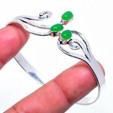Green Onyx Gemstone Silver Silver Fashion Jewelry Cuff Bracelet Adst. SC208