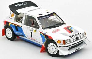 1:18 PEUGEOT 205 T16 Monte Carlo Rally T Salonen & S Harjanne 1986 Norev 184863