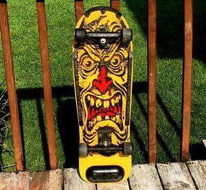 Vintage 1986 KO Rob Roskopp Face Skateboard Complete Deck Santa Cruz Highway Fox