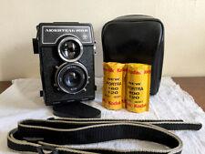Lomo Lubitel 166B TLR medium format camera, 2 rolls of film, case and strap
