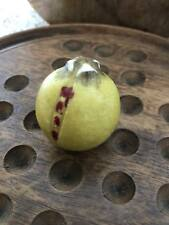 "Early Antique Italian Alabaster Stone Fruit Miniature 1"" Alabaster Pomegranate"