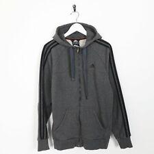 Vintage ADIDAS Small Logo Zip Up Hoodie Sweatshirt Grey   Small S