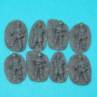 28mm WW2 German Paratroop Casualties. Bolt Action, Chain of Command, unpainted