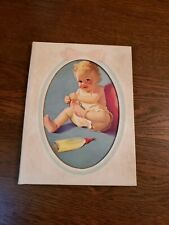 Baby Book MEMORIES BOOK RECORD advertising Gulf life insurance 1950s Vtg