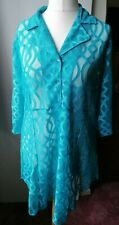 Michele Hope Blue See Through Blouse Size 14/16