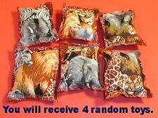 Cat Catnip Pillow Toy - Hand Made Safari Mix Patterns Rectangle - 4 ea