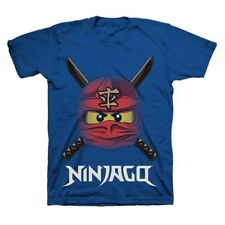 "LEGO Ninjago ""Ready to Battle Face"" T-Shirt (Blue), Tagless, Size 5/6, NEW!"