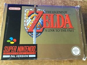 Super Nintendo Game The Legend of Zelda A Link to the Past, boxed & instructions