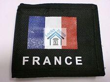 Billetera Unisex Negro De Tela Con Bandera De Francia y un montón de compartimentos