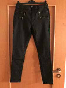Tolle Skinny - Hose von Only, Gr. XL in Leder-Optik, Schwarz