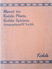 Instruction manual for Kodaks Folding, kodaks special autographic N°3 - 3A