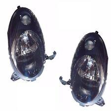For Nissan Micra K12 Hatchback 2003-2007 Black Headlights Lamps 1 Pair O/S & N/S
