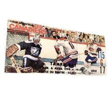 Montreal Canadiens Vintage Hockey Ticket Vs Tampa Bay 1994 Montreal Forum