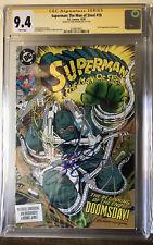 SIGNED Superman: The Man of Steel #18 CGC 9.4 Dan Jurgens First Doomsday