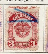 Colombia 1917 Early Issue Fine Used 3c. 097657
