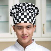 Unisex Kitchen Chef Hat Adjustable Elastic Baker Cap Cooking Catering Gadget