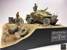 WW2 D.A.K. Diorama - Sd.Kfz 222 + BMW 1:35