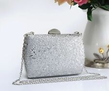 Women's Sparkly Shiny Glitter Purse Clutch Wedding Evening Prom Party Clasp bag