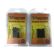 X Factor String Cable Silencers 2 Pack Lot Black 4 Per Pack Archery Bow Usa