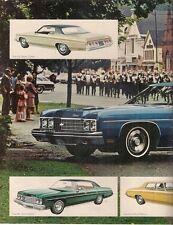 Chevrolet Bel Air & Impala 1973 USA Market Leaflet Sales Brochure Sport Custom
