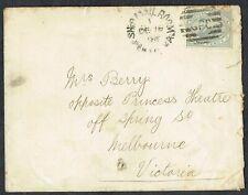 More details for 1898 western australia perth ship mail room to melbourne 2d green duplex vgu