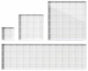 Fiskars 4-Piece Stamping Block Set Clear Scrapbooking Paper Craft NEW