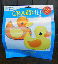 Pack of Two Duck Sewing Kits - Children's Crafts - BNIB
