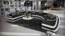 Rundsofa TISSERA U Form Loungsofa Wohnlandschaft Designer Stoffcouch Sofa