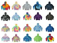 Tie Dye Minty Rainbow Hoodie Kids /& Adults Long Sleeve with front Pockets