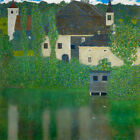 Gustav Klimt Kammer on the Attersee Palace grove canvas print giclee 8X8&12X12
