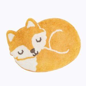 Sass & Belle Woodland Fox Rug Kids Bedroom Nursery Cotton Carpet Mat Nursery