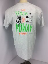 VTG 1992 90s Tour De Poway Cycling City in the Country NEON USA T-Shirt sz XL