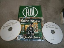 Robbie Williams Signed CD Cover,2 x CD The Christmas Present Cassette Red/Green