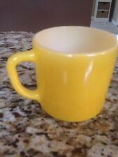 Vintage Firestone Coffee Mug Milk Glass F Heat Proof Yellow