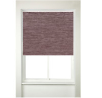 Chenille Thermal Roller Blind Window Blinds Curtain Furnishing  Curtains (Mauve)