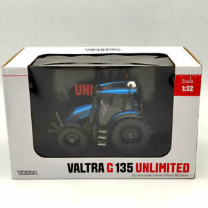 1:32 Scale Universal Hobbies UH6294 VALTRA G135 UNLIMITED Diecast Models - blue