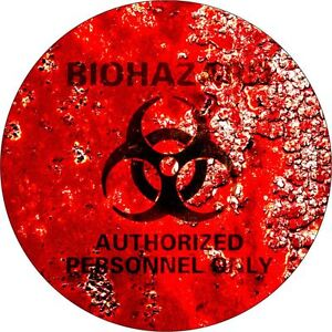 2 x Biohazard Symbol  Surf Vinyl Decal Sticker EURO van   Funny Jap laptop