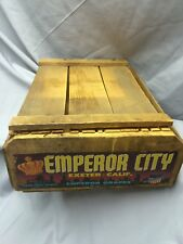 True Vintage California Emperor Grapes Wooden Wine Crate Home Decor Advertising