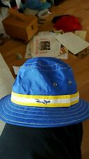 VINTAGE PANAMA JACK BUCKET BEACH JUNGLE FLOPPY BLUE HAT - See Description
