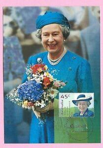 AUSTRALIA  FDC 1998 MAXICARD - HM THE QUEEN'S BIRTHDAY - Shs Elizabeth, SA
