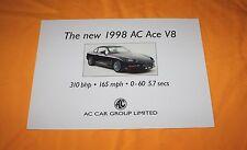 AC ACE V8 1998 Prospekt Brochure Prospetto Depliant Catalog Folder Prospetto