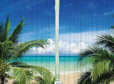 Tropical Beach Paradise Ocean KITCHEN CURTAIN PANEL Set Sand Palm Tree Sanctuary