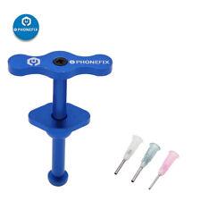 Metal Solder Paste Booster with 3pcs Needle Solder Paste Flux Plunger Dispenser